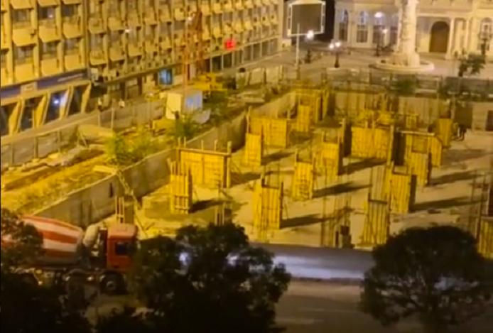"""Среде ноќ интензивно се бетонираат столбови на градилиштето кај """"Беко"""""""