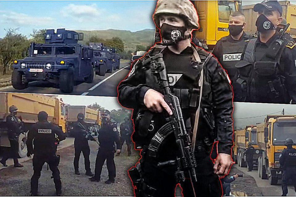 РОСУ со долги цевки претресуваат на Јариње и Брњак: Србите го блокираа сообраќајот, Вучиќ свика Совет за безбедност