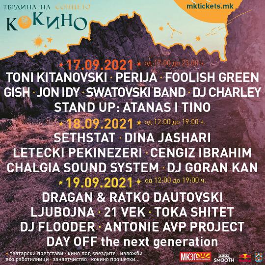 """Мултимедијалниот фестивал """"Кокино – Тврдина на Сонцето"""" со три дена, 20 концерти и стотина уметници"""