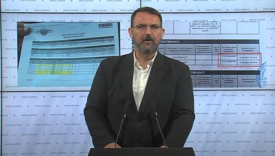 Стоилковски: Никој не мрдна за дивоградбата на Шилегов, а отвораат предмет отфрлен од Вилма Русковска