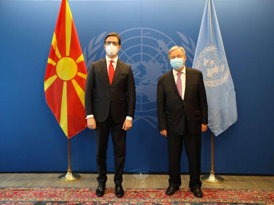 Евроинтеграцијата на Македонија тема на средбата Пендаровски – Гутереш