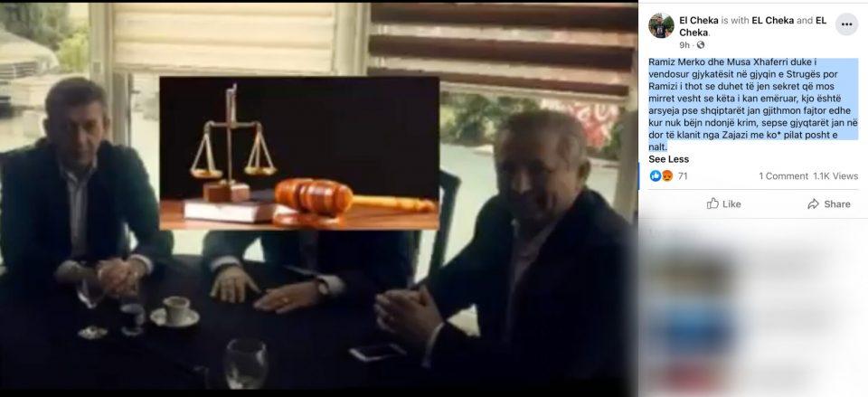 Мерко и Џафери договараат судии за во струшкиот суд во новата снимка објавена од Ел Чека