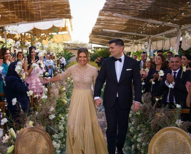 Носеше две венчаници: Тенисерката Симона Халеп се омажи за милијардер, исто како неа со потекло од Македонија
