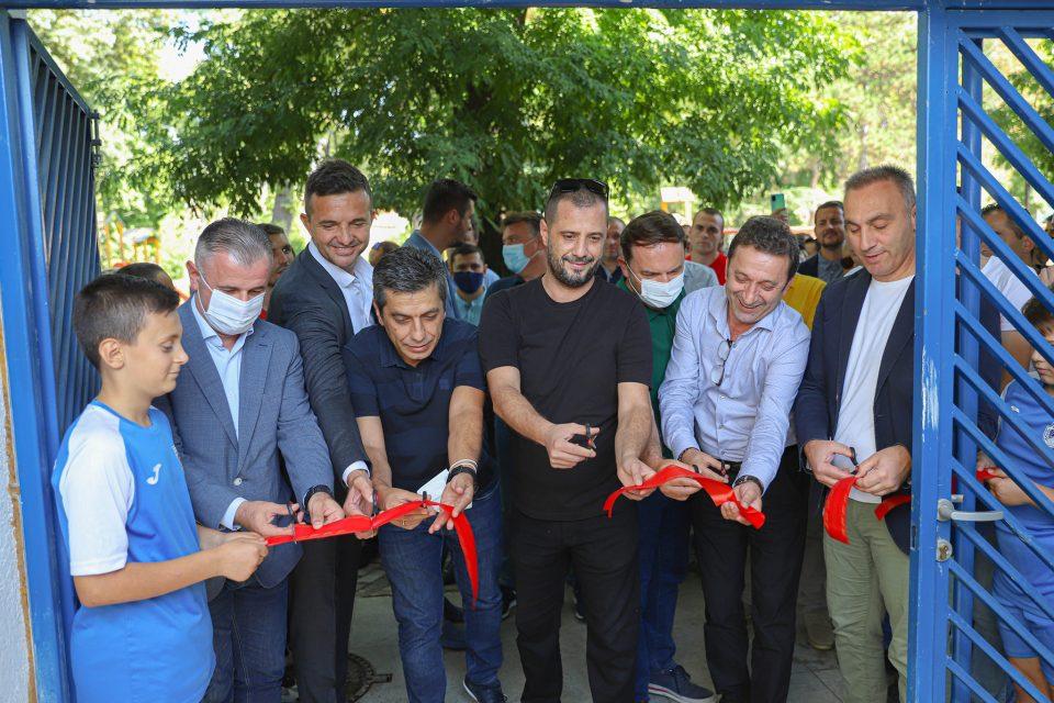 Седуммина сечеа лента за новата трибина за Шверцерите, а неа ја краси само албанското знаме