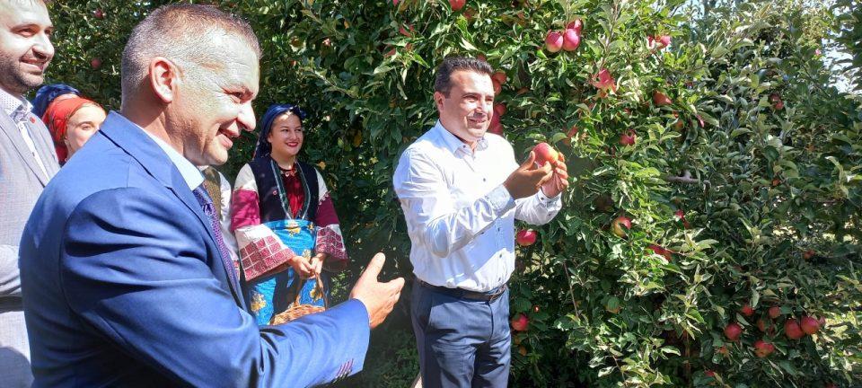 Заев го скина првото јаболко во Ресен, почна Преспански јаболкобер